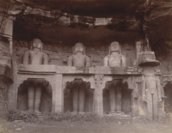 Jain rock sculpture at Gwalior.